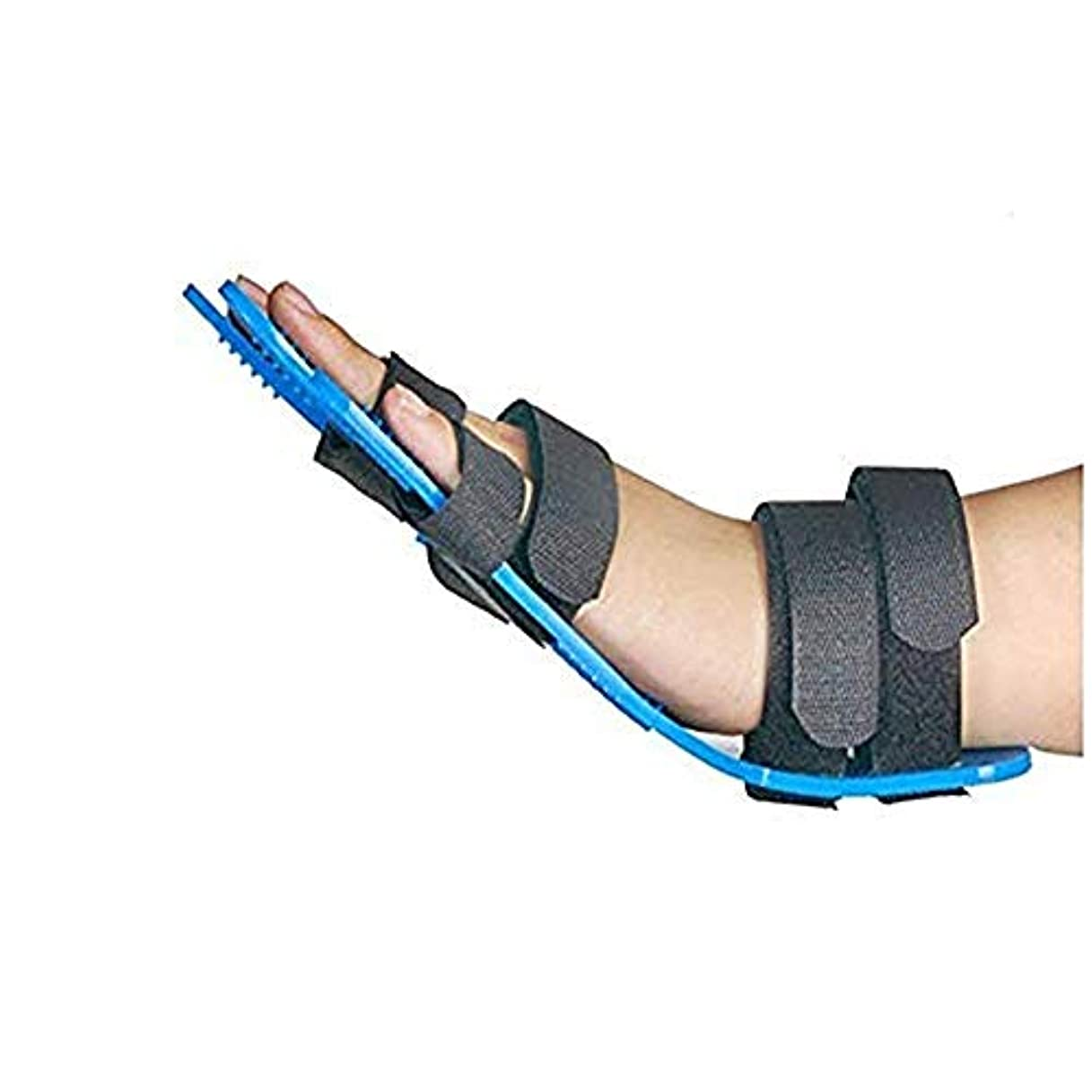 ミント高原トロピカル両指の骨折、傷、術後ケアと痛み、救済のための指セパレーター、手拘縮装具、ソフトパームクッションのために、指セパレーターインソールの手の手首のトレーニング装具攣縮拡張ボードスプリントパームプロテクター