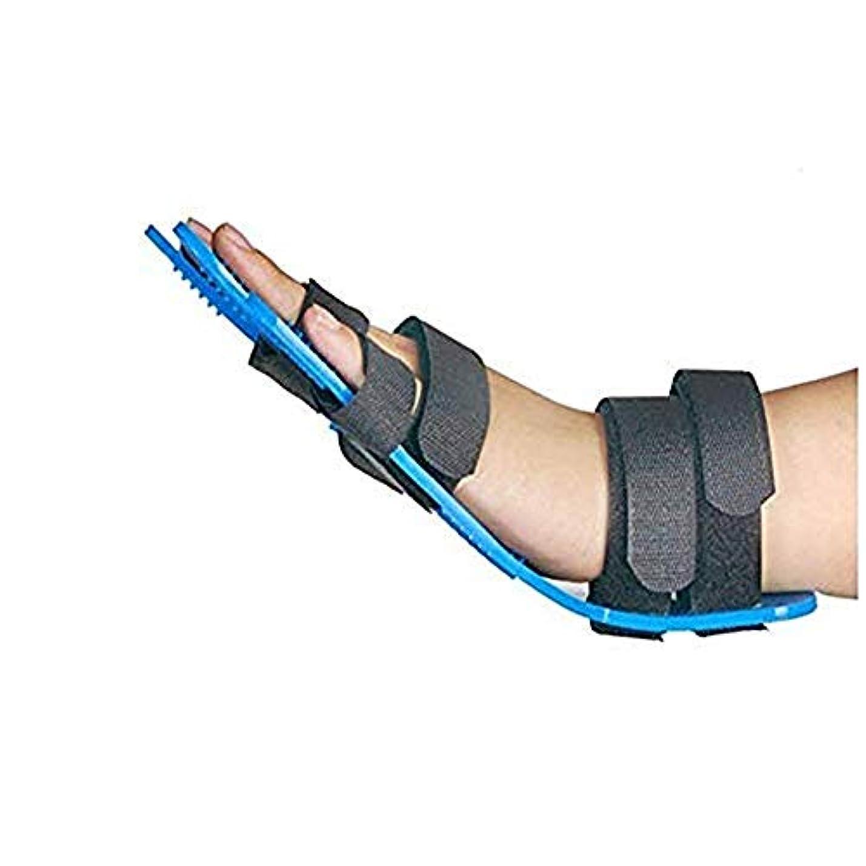 戦士北米紀元前両指の骨折、傷、術後ケアと痛み、救済のための指セパレーター、手拘縮装具、ソフトパームクッションのために、指セパレーターインソールの手の手首のトレーニング装具攣縮拡張ボードスプリントパームプロテクター