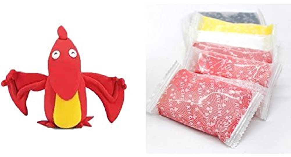 Dino bat Moulding play-dough kit - create your cute 3D exclusive Dinosaur featuring a bat - fun arts & craft kid's artist toy project Clay modelling and sculpting DIY play-set