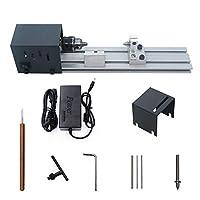 KKmoon ミニ旋盤 24VDC 80W ビーズポリッシャー機 木工工具 DIY ロータリーツールセット 標準バージョン 研磨 掘削 彫刻 切断