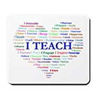 CafePress - Big Hearted Teacher Mousepad - Non-slip Rubber Mousepad, Gaming Mouse Pad