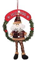 (ラボーグ)La Vogue クリスマス ドアプレート ドアノブ ルーム 客室 クリスマスアクセサりー オーナメント ツリー飾り ぬいぐるみ 装飾 インテリア 雑貨 小物 玄関 サンタ