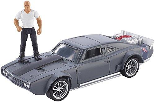 Fast & Furious 8 スタントスターズドミニックフィギュア&アイスチャージャービークル/Fast & Furious 8 Stunt Stars Dominic Figure & Ice Charger Vehicle [並行輸入品]
