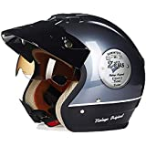 Fashion Modern Iron Grey/Black ABS Adult Bicycle Helmet Riding Electric Car Motorcycle Helmet Bicycle Mountain Bike Helmet Outdoor Riding Equipment Pretty (Size : XL)