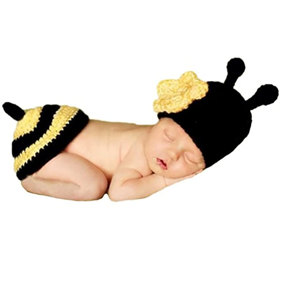 順応性のある保育園ディレクターJ-LAVIE ベビー 赤ちゃん コスチューム みつばち ミツバチ 蜂 ベビー服 寝相アート ハロウィン 記念撮影 誕生記念 出産祝い 毛糸 ニット帽 手作り 赤ちゃん服 仮装 かわいい 着ぐるみ
