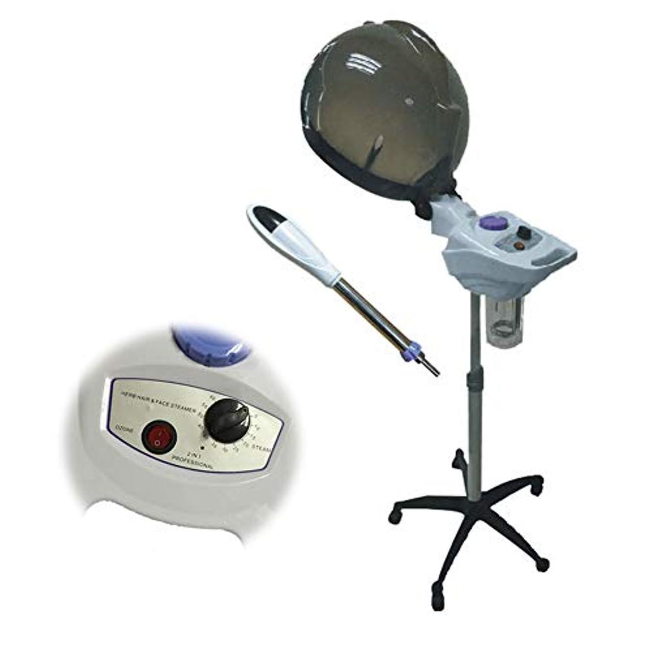 本物の疫病透過性理容用スチーマー、染毛機、10スピード制御、プロ用ヘア熱処理ビューティースチーマー、ステーション型設定タイマー温度調節可能