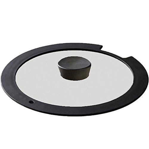 アイリスオーヤマ ガラス蓋 「ダイヤモンドコートパン」 26cm ブラック H-IS-GL26