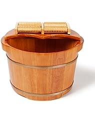 C&L 足の浴槽、木製の足の洗面器足のバレルの足のマッサージの足の洗面器カバーの足の浴槽38 * 31 * 26cm ( サイズ さいず : 38*31*26cm )