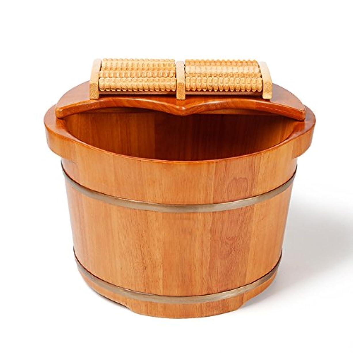 ごみ優勢試用C&L 足の浴槽、木製の足の洗面器足のバレルの足のマッサージの足の洗面器カバーの足の浴槽38 * 31 * 26cm ( サイズ さいず : 38*31*26cm )