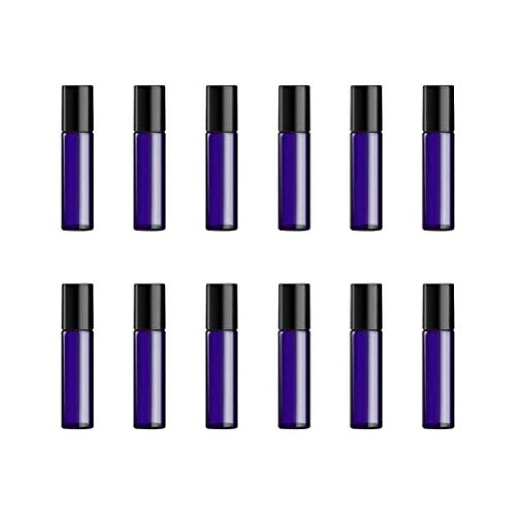最後に靴下掻くLurrose ボトルのロール旅行旅行 精油 小分け用 詰め替えローラーボールエッセンシャルオイル 精油ローラーボトルガラス香水瓶 5ml の12PCS 青