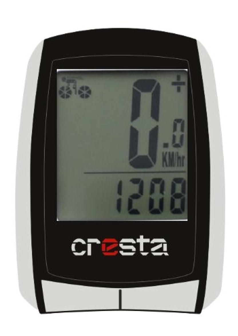 ほぼ例外穀物クレスタ7590601 PFC560自転車用コンピューターブラック/シルバー