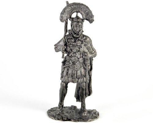 ローマの百人隊長。ローマ, 1-3世紀ものAD 金属彫刻. Roman centurion. Rome, 1-3 centuries AD. Tin toy soldiers. コレクション54ミリメートル(1/32スケール)を ミニチュア置物.錫のおもちゃの兵士