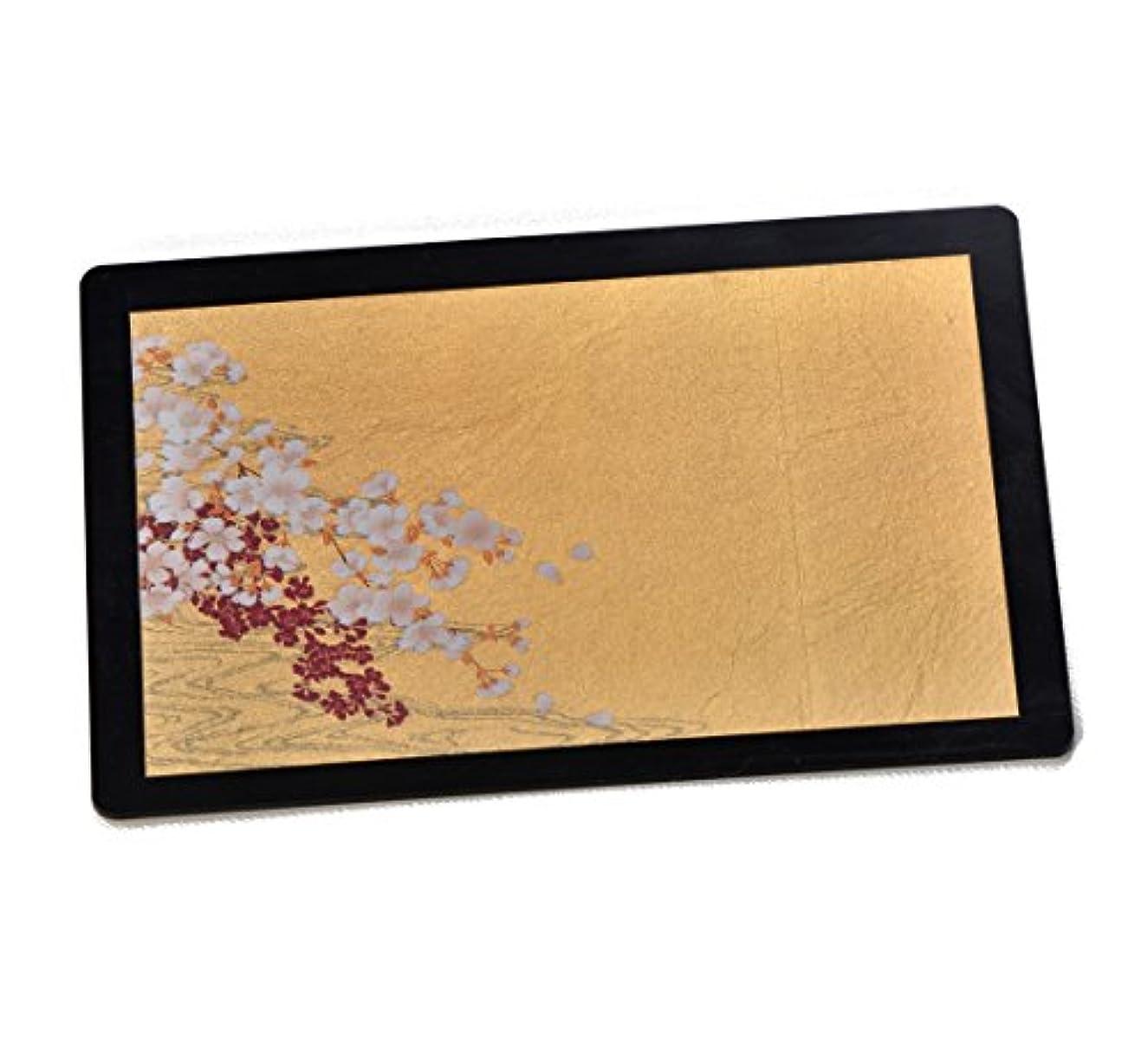 スペア置くためにパック場合箔一 桜に流水 箔マウスパッド ゴールド 167×120×4mm A183-02005