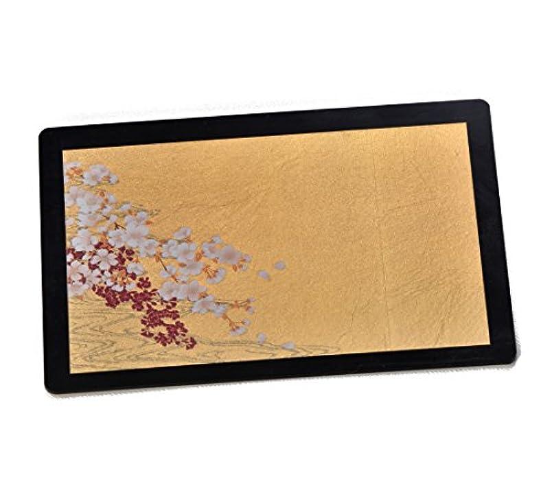 付属品拡声器引っ張る箔一 桜に流水 箔マウスパッド ゴールド 167×120×4mm A183-02005