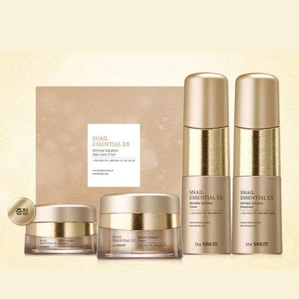 グレートバリアリーフ母地平線[ザセム] The Saem [スネイル エッセンシャル EXリンクルソリューション スキンケア 3種セット] (Snail Essential EX-Wrinkle Solution Skin Care 3Set) [並行輸入品]