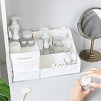 デスクトップ化粧品収納ボックス引き出しプラスチックコンパートメントジュエリー収納ボックス口紅スキンケア仕上げボックス白大