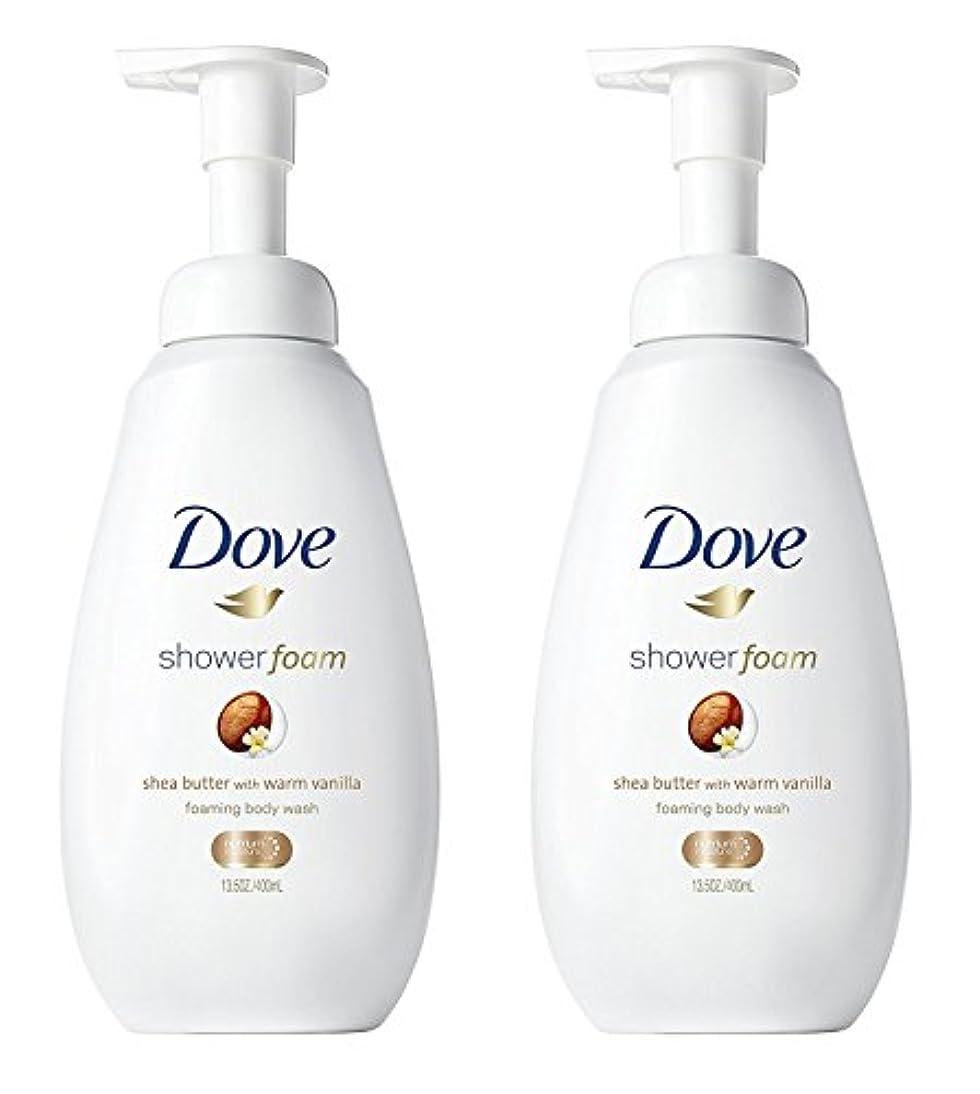 味わう動かない談話Dove シャワー泡 - ウォームバニラシアバター - - ボディウォッシュを発泡ネット重量。ボトルあたり13.5液量オンス(400ml)を - 2本のボトルのパック