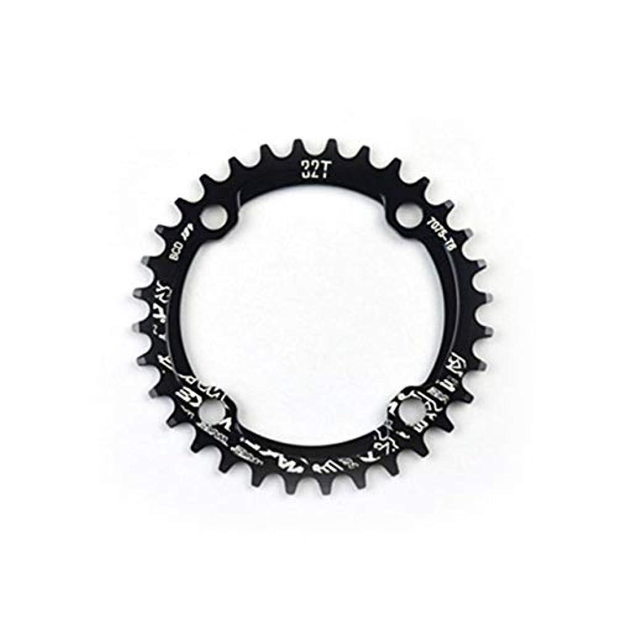 作曲家出力病気DeeploveUU MTB自転車ナローワイドラウンドチェーンホイールチェーンリング104mm BCDクランク32T 34T 36T 38T CNCアルミ合金サイクリングアクセサリー