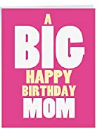 "j5972bmgジャンボ陽気な誕生日母Greeting Card : Big Happy誕生日Mom、封筒付き(大きいサイズ: 8.5"" X 11"" )"