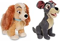 Disney Store Exclusive Lady And The Tramp Plush Set Featuring 11 Lady & 13 Tramp Stuffed Animal Dolls by Disney [並行輸入品]