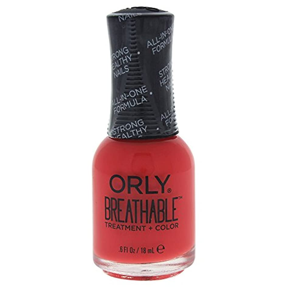 高架事業圧縮Orly Breathable Treatment + Color Nail Lacquer - Vitamin Burst - 0.6oz / 18ml