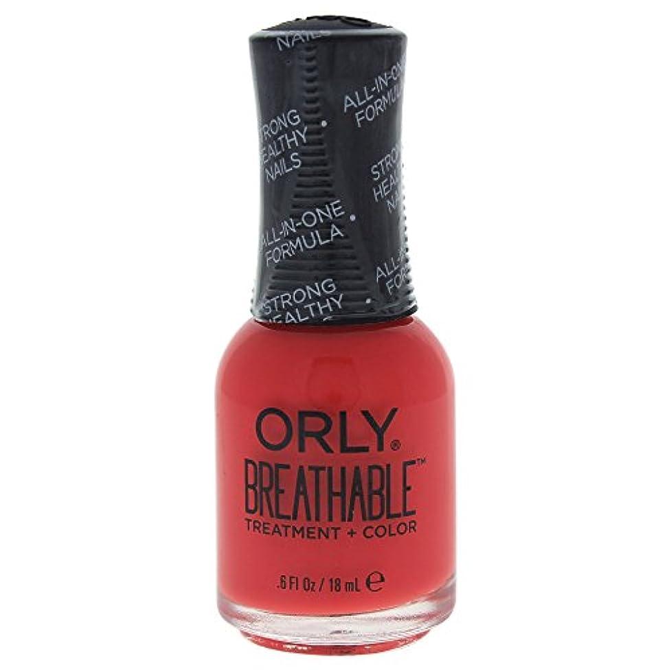 ブロンズもろい役割Orly Breathable Treatment + Color Nail Lacquer - Vitamin Burst - 0.6oz / 18ml