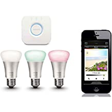 Philips Hue 3pk Wireless Lighting Starter Kit E27 Bridge LED Light Lightbulb App