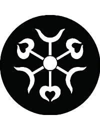 家紋シール 六つ矢尻紋 布タイプ 直径40mm 6枚セット NS4-3082