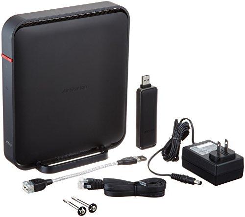 BUFFALO 【iPhone6対応】 11ac/n/a/b/g 無線LAN親機(Wi-Fiルーター) 子機セットモデル エアステーション ハイパワー Giga 866+300Mbps WZR-1166DHP/U (利用推奨環境4人・4LDK・3階建て)