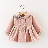 Autumn Baby Girls Solid Long Sleeve Lapel Collar Princess Bow Jacket Coat Children Kids Outerwear Trench Casaco Infantil Menina