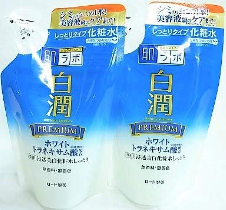 重さサンダースカート[2個セット]肌ラボ 白潤プレミアム 薬用浸透美白化粧水しっとり 詰替用 170mL入り×2個