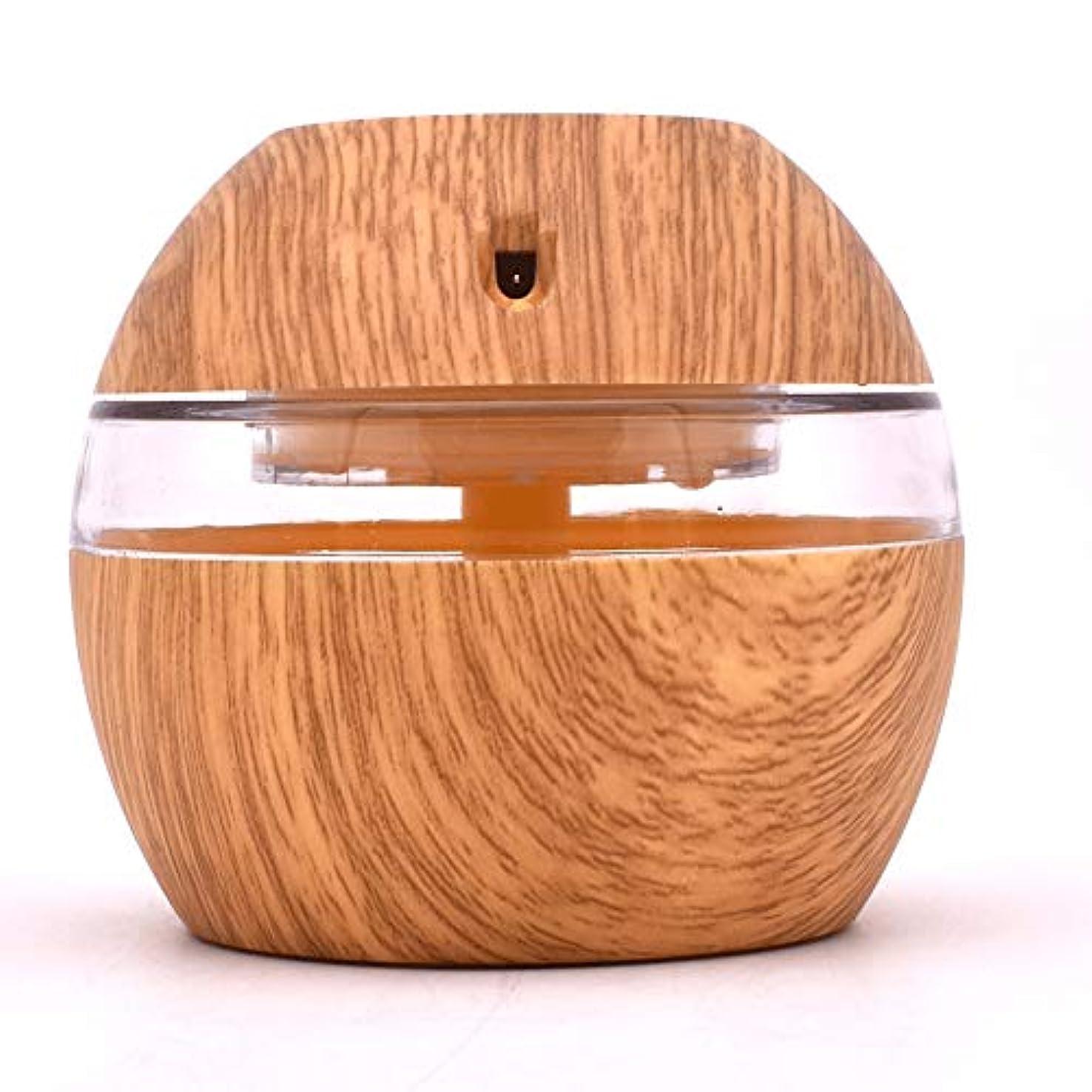 脆い素朴なクール300ML Aroma Diffuser Essential Oil Diffuser With 7 Color LED Lights Waterless Auto Off