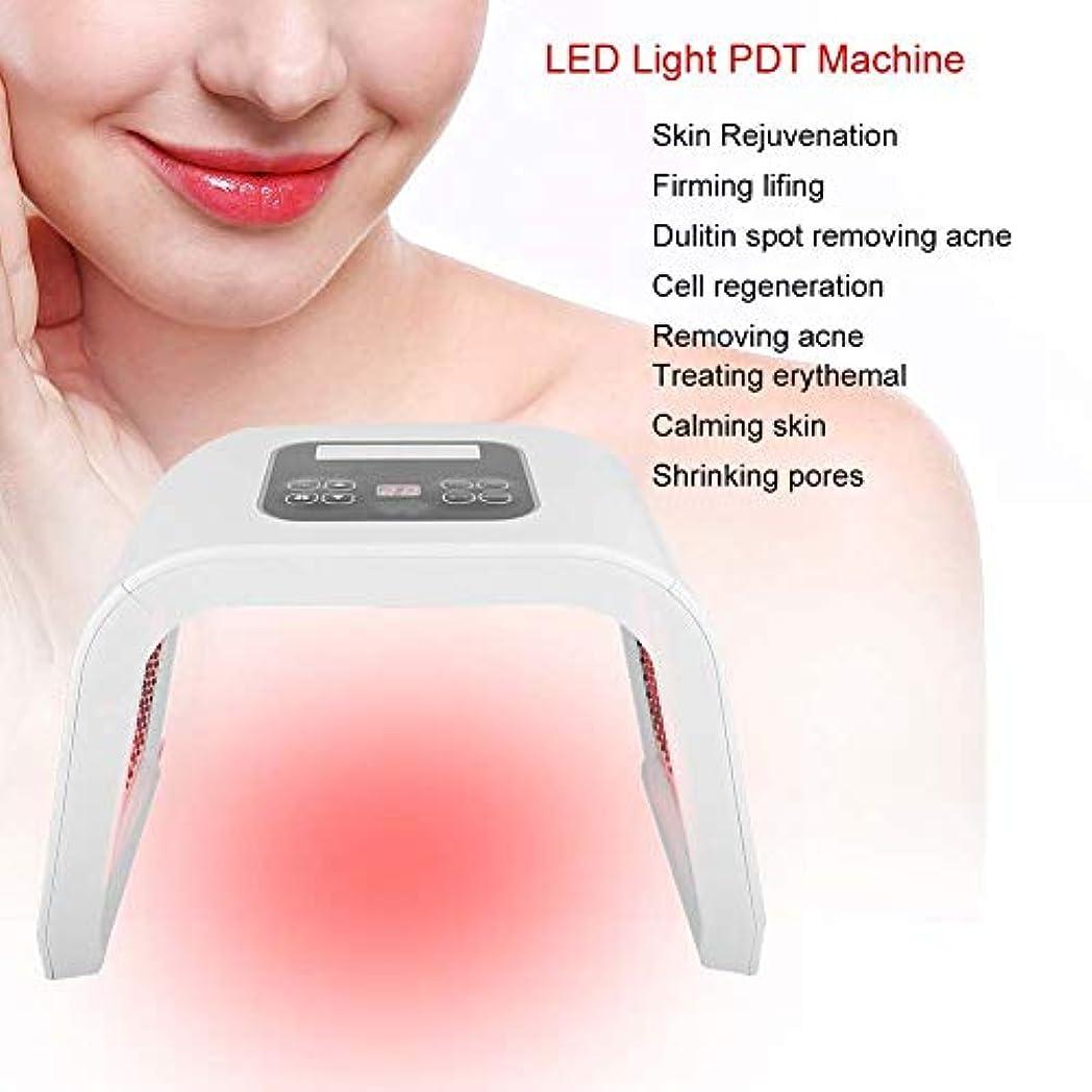 アブストラクト砂漠有限顔のスキンケアのマスク、LEDライト美機械、4つのタイプ7色PDT LEDライト美の光線力学ランプの皮の若返り機械(米国のプラグ)