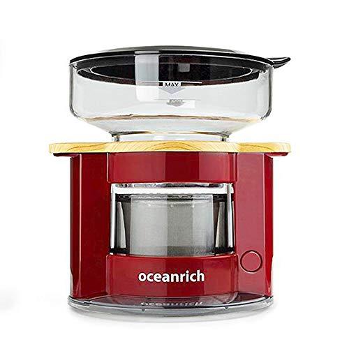 オーシャンリッチ コーヒーメーカー 自動ドリップ・コーヒーメーカー レッド UQ-CR8200RD 4カップ以下