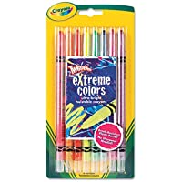 Twistable Crayons, 8 Neon Colors/Set, Sold as 8 Each by Crayola