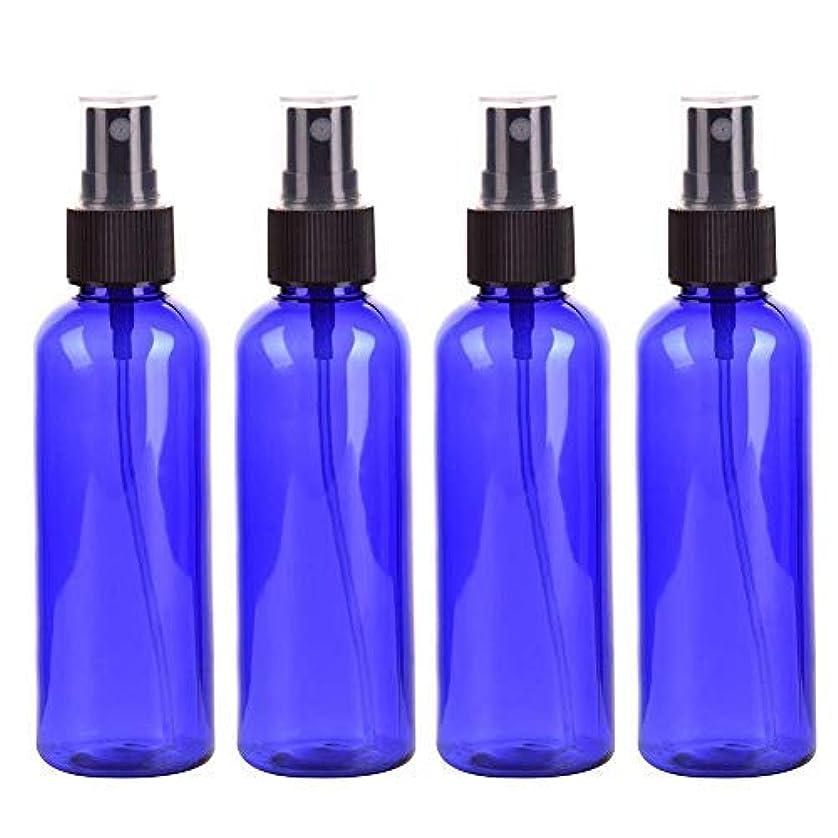 不器用企業失望Roman Center スプレーボトル 保存容器 化粧品ボトル 霧吹き スプレータイプ プラスチック 100ML 4本