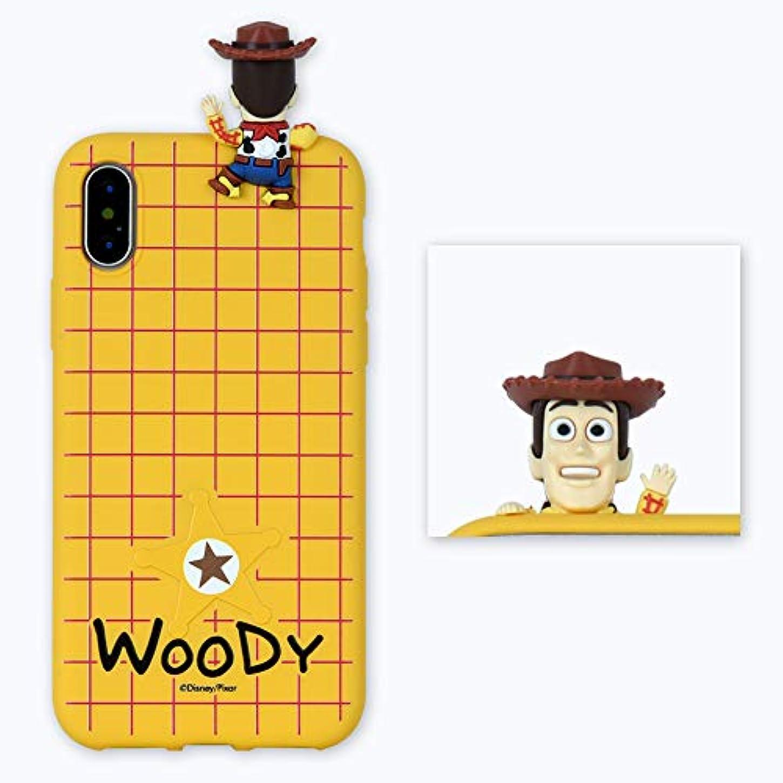 カブ守るマディソンDISNEY TOY STORY マスコットシリコンケースiPhone XR アイフォーンXR 韓国純正品平行輸入 (WOODY)