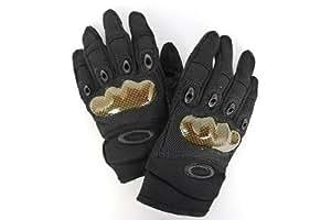 OAKLEYオークリータイプ タクティカルグローブ/BK(ブラック) Mサイズ【手の平はメッシュ素材を使用。通気性にも優れております】
