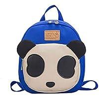 Vikenner. Primary Child Kindergarten Bag Unisex Kids Cute Girls Boys Backpack Children's Travel Bag Toddler Kids School Bag Kids Animals Backpack Book Bag 20 * 7 * 23cm Rose Red Panda Oxford Cloth