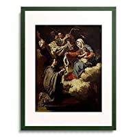 Damery, Walthere,1614-1678 「Die hl.Jungfrau ubergibt dem hl.Norbert die Attribute seines Ordens.」 額装アート作品
