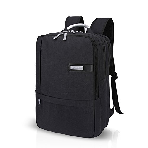 FANDARE 高級かっこいい学生通学ショルダーバッグ15.6インチラップトップ収納バックパック旅行リュックサック通勤鞄PC多機能多目的マルチポケット大容量耐震メンズレディース防水ポリエステル ブラック