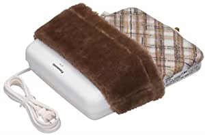 パナソニック 足温器 ブーツタイプ ブラウン 抗菌防臭加工 格子柄 DF-58-T