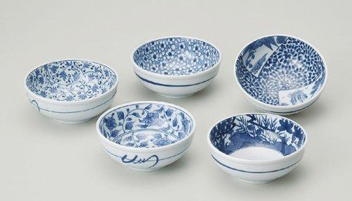 西海陶器 古染絵変り 小鉢揃 30696