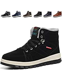 Mannpoスノーシューズ ブーツ メンズ 防滑 防水 防寒のスノーブーツ 雪靴 アウトドア 通勤用(11色オプションの選択)