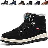 Mannpoスノーシューズ ブーツ メンズ 防滑 防水 防寒のスノーブーツ 雪靴 アウトドア 通勤用(R-ブラック 26.0)