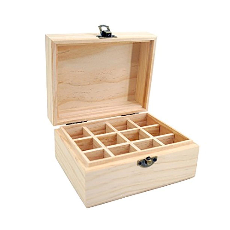 アロマポーチ エッセンシャルオイル収納ケース 木製 12本用