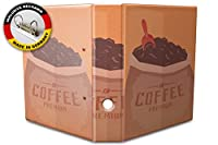 バインダー 2 Ring Binder Lever Arch Folder A4 printed Coffee premium