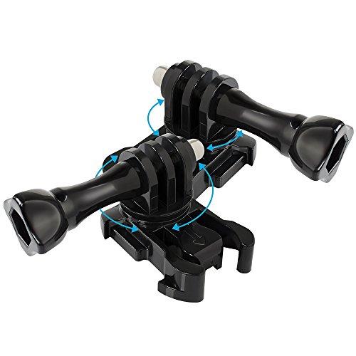 【Taisioner】GoPro HERO7/6/5/4/3+用 360°調節可能アダプター 360°回転式バックルマウント アクションカメラアクセサリー 2セット (360°回転式バックルマウント) gopro7 Black gopro7 Silver gopro7 White