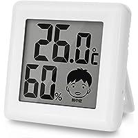 ドリテック デジタル温湿度計 「ピッコラ」 ホワイト O-282WT