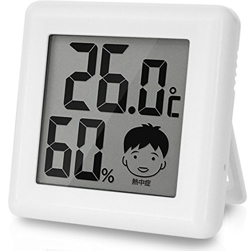 ドリテック デジタル温湿度計 「ピッコラ」 ホワイト O-2...